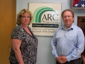 Coleen Rosekrans, VP Americar and Mike Szpak, ED ARC of Oswego County